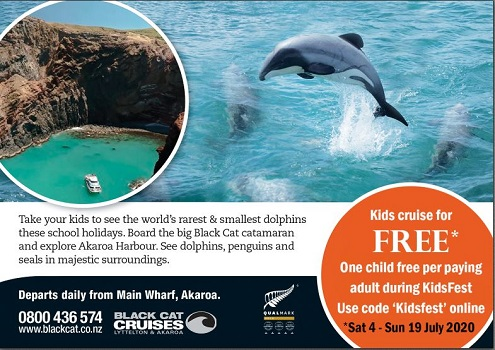 Image of Kids Cruise Free in Akaroa with Black Cat Cruises event
